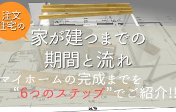 【家を建てる手順】注文住宅を購入する流れと期間